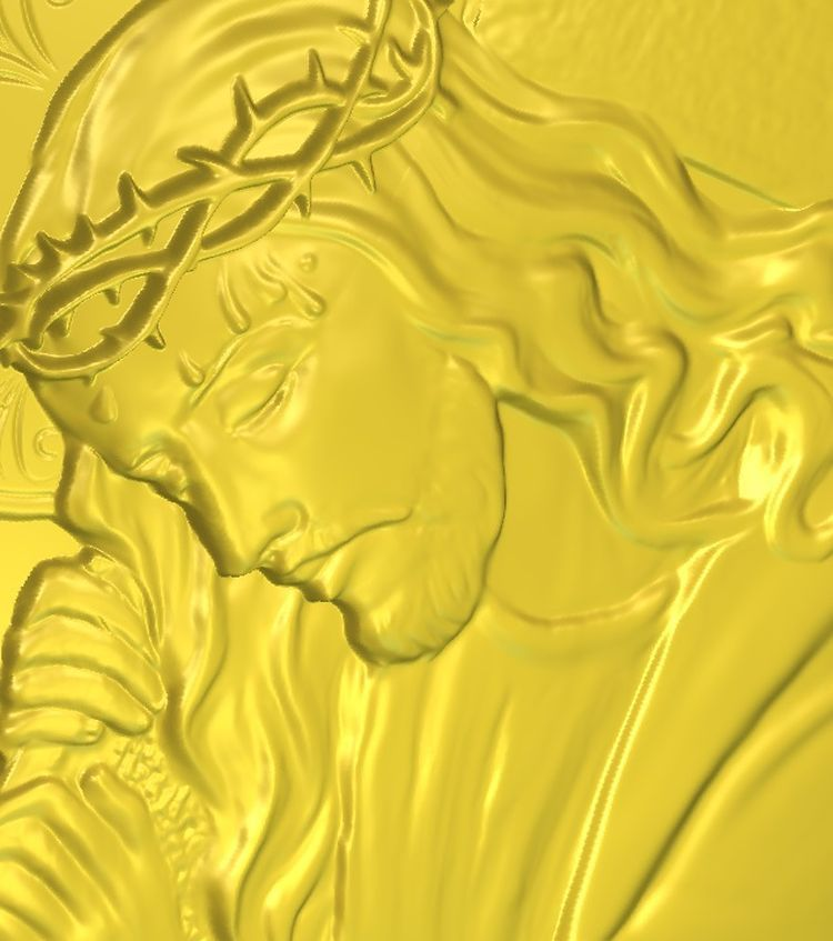 3d model relief  for cnc in STL file format Jesus_4 panno hunting 2 for cnc in stl file format 3d model relief