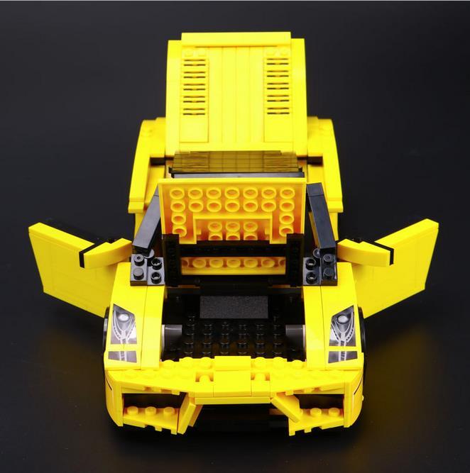 DIY Model Gallardo LP 560-4 Building Blocks Compatible Lepine Technic Bricksaction Figure Stickers Car Vehicle Toys for Children технопарк машинка инерционная lamborghini gallardo lp 560 4 цвет красный