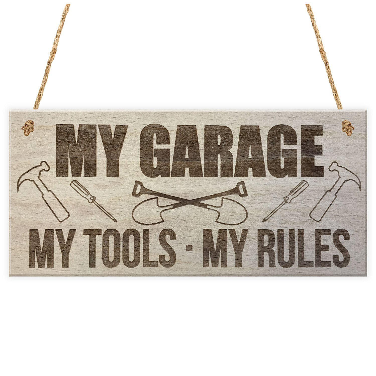 HOT SALE My Garage My Tools My Rules Man Cave Shed Hanging Plaque Fathers Day Gift Sign