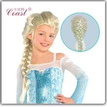 Анна эльза коричневый синтетические хвост косплей парик парики взрослых волосы белый