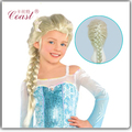 Anna Elsa Cosplay Wig Ponytail Hair For Adult Kids Elsa White Brown Wig Cosplay Hair wig Synthetic Wigs For Children  QY05