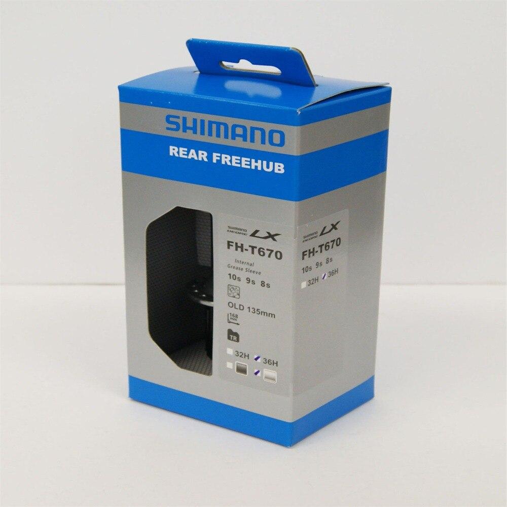 Shimano DEORE LX FH-T670 vélo hub 36 H/32 H vélo V de frein 8 9 10 vitesse rapide- release Noir/Argent