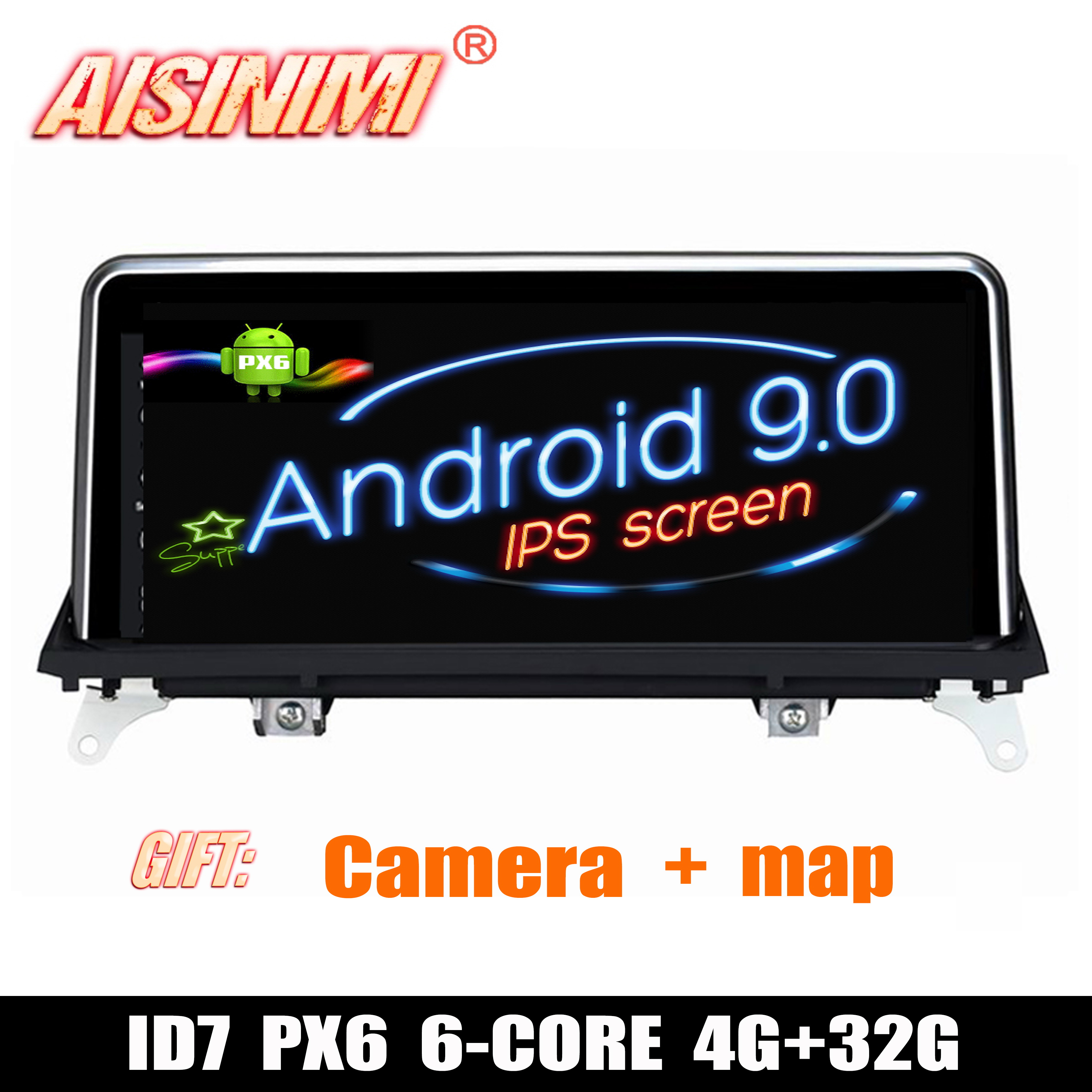 Android 9 0 ID7 Car Dvd Navi Player FOR BMW X5 E70 X6 E71 2007 2010