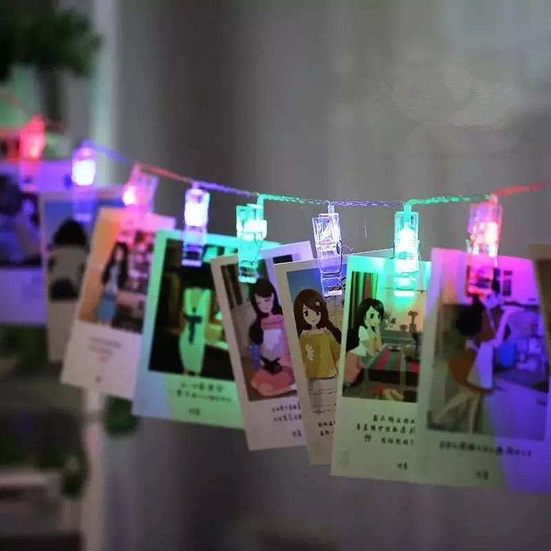LED String Light Fairy Lamp Starry akukaart Foto Clip 1M / 2M / 4M - Puhkusevalgustus - Foto 3