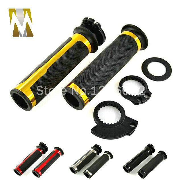 motorcycle handlebar aluminum rubber Grips 22mm with throttle Universal handlebar Grips 7 8 Hand Bar with