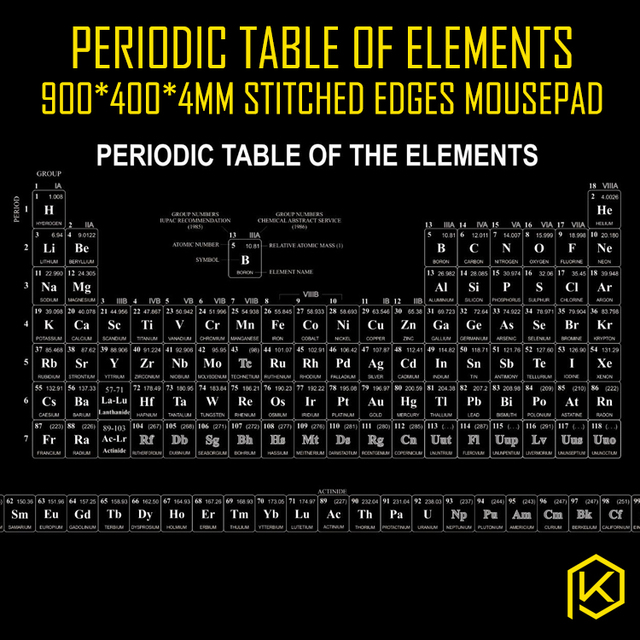 Aliexpress buy mechaincal keyboard mousepad periodic table mechaincal keyboard mousepad periodic table of elements 900 400 4 mm stitched edges softrubber urtaz Image collections