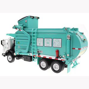 Image 4 - Alloy Diecast Barreled Garbage Carrier Truck 1:24 Waste Material Transporter Vehicle Model Hobby Toys For Kids Christmas Gift