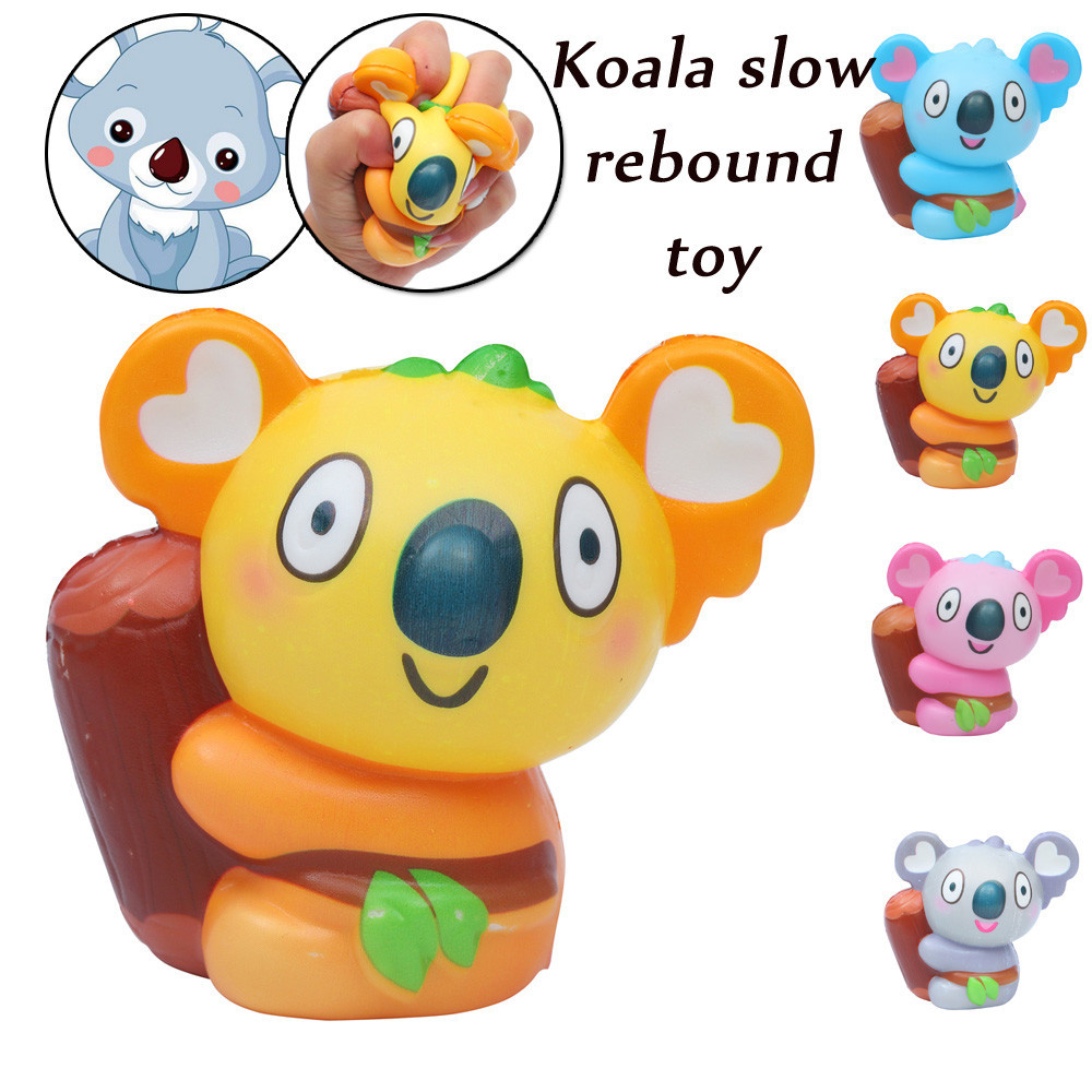 Exquisite Kawaii Koala Soft Squishies Doll Toy Kid Gift Scented Slow Rising Cream Toddler Baby Stress Relief Squeeze Palm Toys