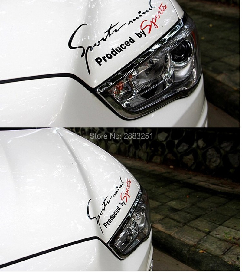 Reflective Lamp Eyebrow Sports Styling Hood headlight stickers for <font><b>BMW</b></font> e46 e90 e39 f30 f10 e36 e60 x5 e53 f20 e34 <font><b>x3</b></font> <font><b>Accessories</b></font> image