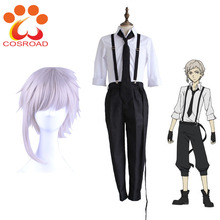 Cosroad Anime Bungo Streunende Hunde Atsushi Nakajima Cosplay Kostüme Perücken Shirts Hosen Krawatte Handschuhe Set