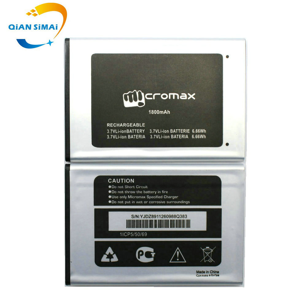 QiAN SiMAi 1PCS New 100% High Quality Micromax Q383 Battery for Micromax Q383 mobile phone +track code