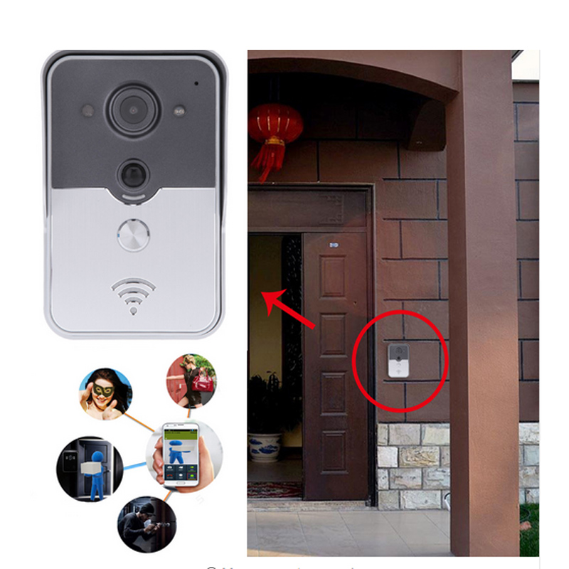 720P IP Wifi Doorbell Camera With Motion Detection Alarm Wireless Video Intercom Phone Control IP Door Phone Wireless Door Bell hd 720p wifi doorbell camera with motion detection ir alarm wireless video intercom phone control door phone for andriod ios