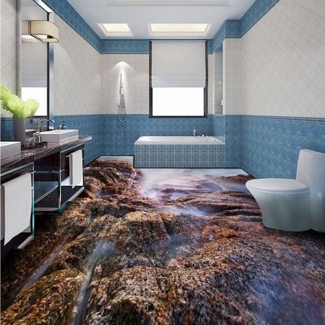 Freies Verschiffen Farbe Stein 3d Wohnzimmer Badezimmer Boden  Selbstklebende Wohnzimmer Schlafzimmer Bad Studie Lobby Bodenbeläge Wandbild
