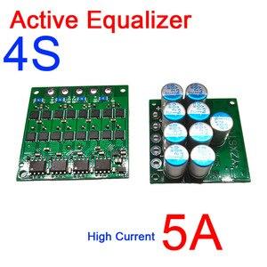 Image 1 - 3S 4S 12V Li Ion Lifepo4 Lithium batterie Aktive Equalizer schutz bord 5A strom Äquivalent parallel Balance 3,2 V 3,7 V