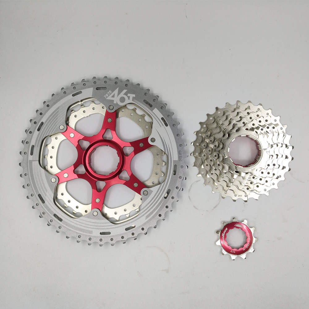 все цены на sunrace 10 Speeds 11-46T mountain bike bicycle freewheel mtb bike cassette bicycle parts freewheel онлайн
