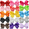 15pcs/lot Polka Dot Grosgrain Ribbon Hairbows,kids Baby Girls' Hair Accessories without  Clip,Boutique