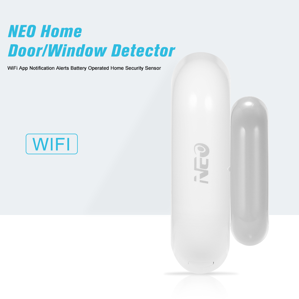 NEO Home Door/Window Detector WiFi App Notification Alerts Battery Operated Home Security Sensor(China)