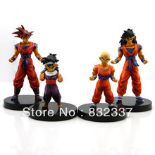 High Quality Pop Japanese Anime Cartoon Dragon Ball  Z GT Action figure Gohan Goku Kuririn 4PCS/SET  Free Shipping