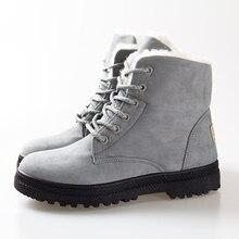 Mujeres botas de invierno zapatos calientes de la nieve botas 2016