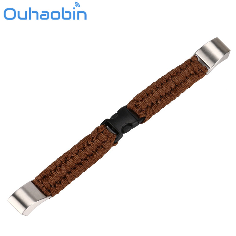 Ouhaobin 200mm NEW Nylon Rope Survival Bracelet Watch Band For Fitbit Alta/Fitbit Alta HR Gift Oct 14 Dropship