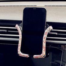 Universal Car Phone Holder With Shiny Crystal Rhinestone