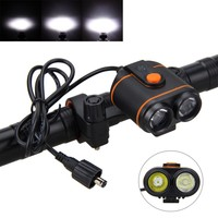 10000LM 2x XM L2 LED Bike Bicycle Light Headlamp Torch Rechargeable 16000mAh Battery