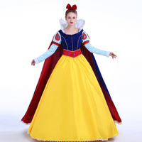 princess snow white fancy dress costume with cape velvet satin dress adult dress snow white cosplay costume custom made