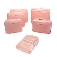 Nylon Packing Cube Travel Bag System Durable 5Pcs/set Large Capacity Luggage Bags Unisex Clothing Sorting Organize Duffle Bag