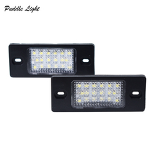 2x led for Volkswagen Tiguan Touareg Bora Variant auto Number License Plate Light Lamp Car-styling Auto lighting part