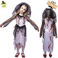 Kid's bloody horror zombie bride costume stage costumes masquerade vampire costumes
