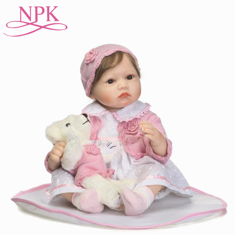 NPK Girl Doll Reborn 55cm Bebes Reborn Menina Soft Cotton Body Silicone Reborn Baby Dolls Toys For Children Gift Fashion DollNPK Girl Doll Reborn 55cm Bebes Reborn Menina Soft Cotton Body Silicone Reborn Baby Dolls Toys For Children Gift Fashion Doll