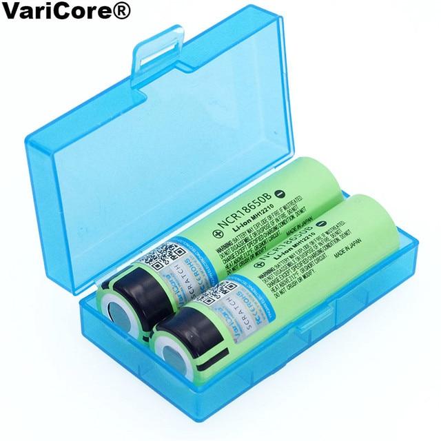 VariCore Mới Ban Đầu 18650 NCR18650B pin Sạc Li-ion 3.7 V 3400 mAh Cho Đèn Pin + Hộp Bảo Quản