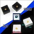 Wholesale 200pcs/lot 3cm x 3cm Loose Diamond Display Packaging Box Plastic Beads Case Stone Box Black&White Gem Organizer Casket