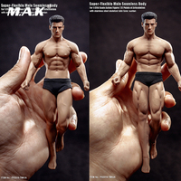 In Stock 15.3cm/16.3cm TBLeague TM01A/B 1/12 Super Fitness Flexible Male Seamless Body Head Mini Figure Model for Fans Gifts