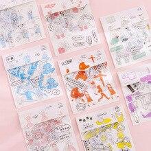 40 PCS / lot Creative Little Person Handbook Diy Material and Paper Sticker Pack Salt Girl Diary