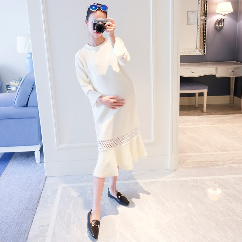2018 summer maternity show women dress korean dress pregnant women long large clothes