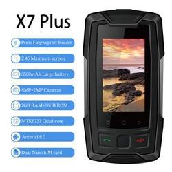 """Xeno X7 плюс 2,45 """"MTK6737 мини смартфон 4G IP68 Водонепроницаемый Оперативная память 2 Гб Встроенная память 16 GB отпечатков пальцев NFC gps мобильного"""