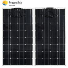 Солнечная панель 300 Вт 200 Вт 400 Вт 12 В Вольт Панель Солнечная гибкая монокристаллическая солнечная батарея для автомобиля морская солнечная батарея 12 В/24 В 400 Вт