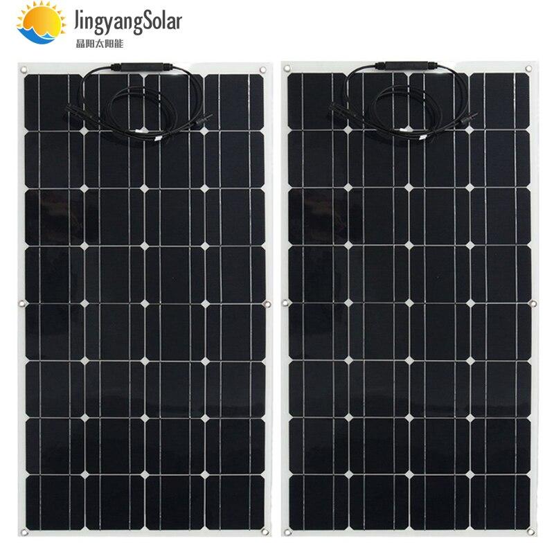 Panel solar 300w 200w 400w 12V voltios panel solar flexible monocrsytalline célula solar para coche Marina batería solar 12 v/24 v 400w