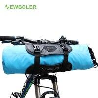 NEWBOLER Bike Front Tube Bag Waterproof Bicycle Handlebar Basket Pack Cycling Front Frame Pannier Bicycle Accessories