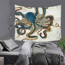 Beautiful Jellyfish Tapestry Lion Animal Printed Wall Hanging Tapestries Indian Hippie Home Decoration 150x130cm