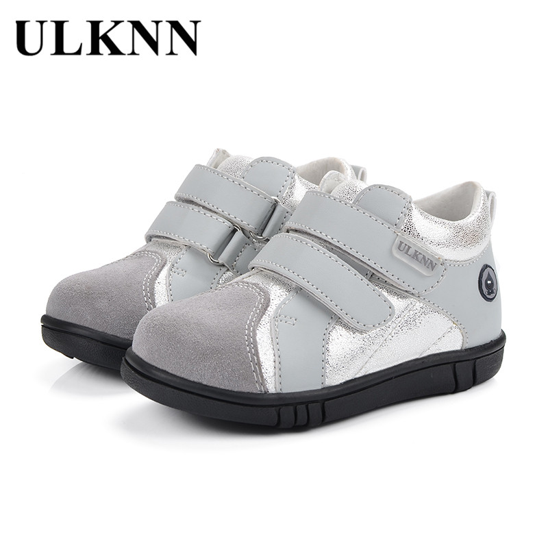 ULKNN Children Casual Shoes Boys For Kids Genuine Leather Flat School Message Glitter Shiny Kids Sneakers tenis infantil menino ...