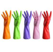 Wholesale 3 pc/lot Dishwashing gloves laundry kitchen cleaning waterproof antifreeze latex utensils household