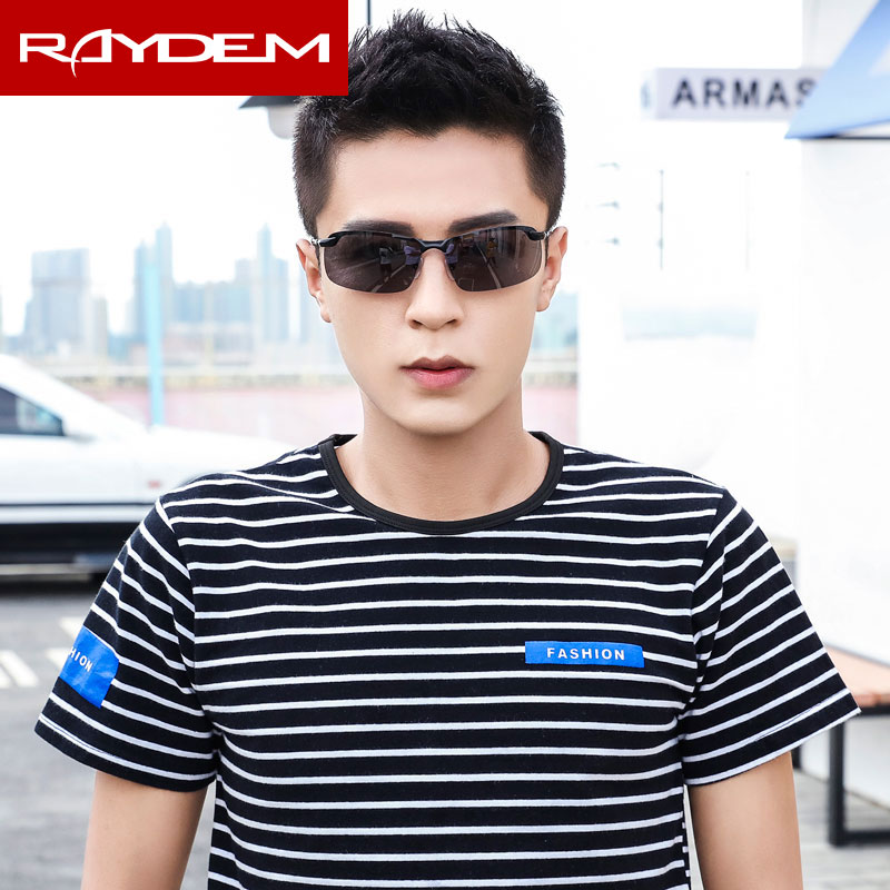 2018 New Polarized Man Day Night Discolor Sports Woman Sunglasses Male Driving Fishing Female Black Rimless Sunglass Resin
