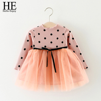 Christening Gown Infant Wedding Dress Winter Newborn Baby Girls Dresses Knitting Long Sleeve Dot Bowknot Birthday