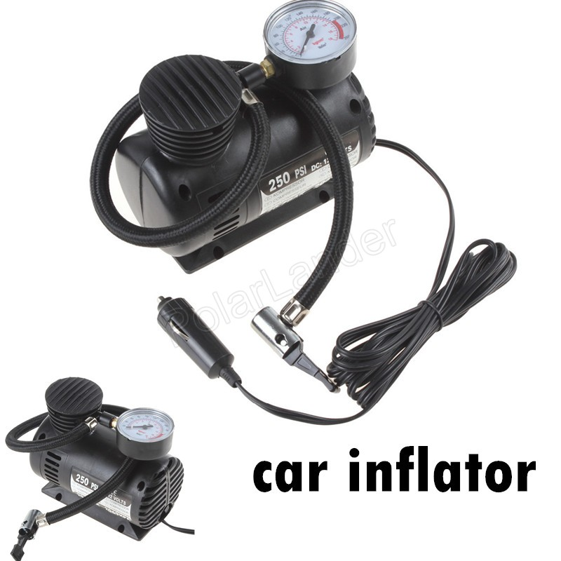 Easy and simple to handle 250 PSI 12V Portable Auto Electric Car Inflatable Pump air Compressor Tire Inflators