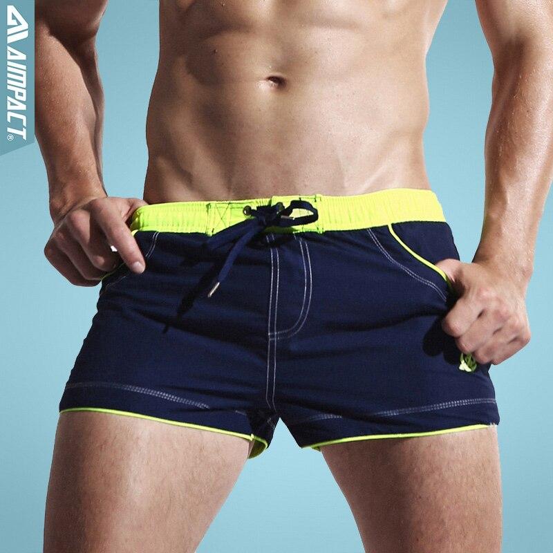 Aimpact Men's   Board     Shorts   Sexy Beach Bermuda Wear Sea   Short   Maillot De Bain Men's   Board     Shorts   with Lining Liner AC429