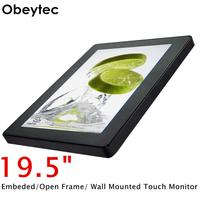 Obeytec 19.5 TFT LCD 16:9 P CAP Capacitive Open Frame PCAP touch screen Touch Monitor, FHD Resolution, 10 Points, IP65