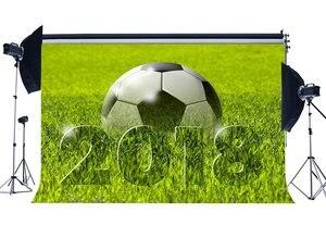 Image 1 - ملعب لكرة القدم خلفية 2018 الأخضر العشب مرج الطبيعة الرياضية مباراة المدرسة لعبة خلفيات التصوير خلفية