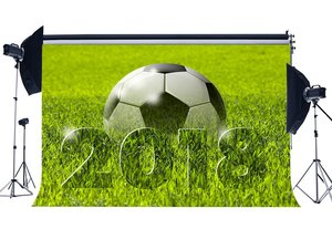 Image 1 - Football Field Backdrop 2018 Green Grass Meadow Nature Sports Match School Game Wallpaper Photography Background